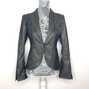 Laundry Shelli Segal Blazer Gray Metallic Size 4